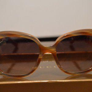 Gucci Oversized Square Tan Multi Women's Sunglasse